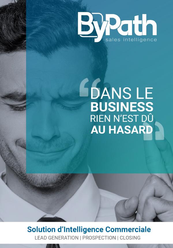 Plaquette de présentation de notre solution d'intelligence commerciale